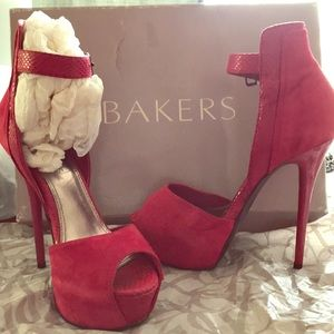 Beautiful  red stilettos and excellent condition